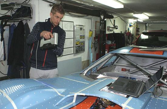 Racingbil 3D-skannas av Speedlab