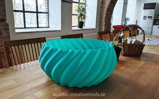 Stor skål 3D-printad med Builder Extreme 1500