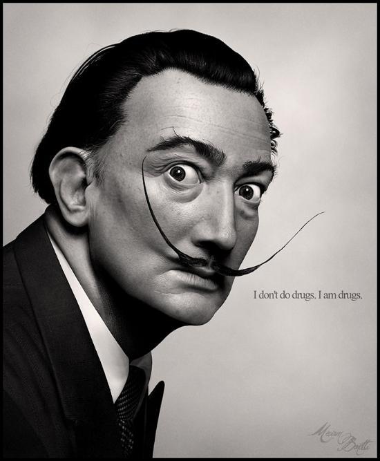 Reproduktion av Salvador Dali med ZBrush