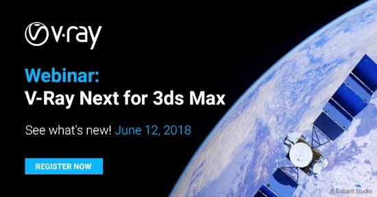 Webinar: Vad är nytt i V-Ray Next for 3ds Max?