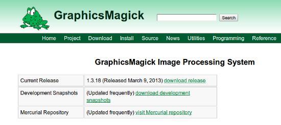 GraphicsMagic 1.3.18 är släppt