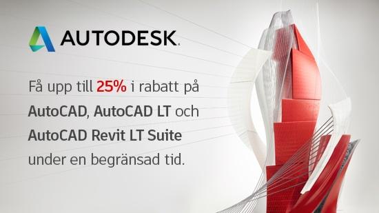En vecka kvar – upp till 25% på AutoCAD