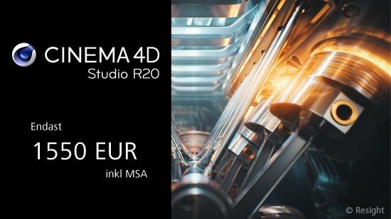 Uppgradera till Cinema 4D R20 Studio till lågt pris!