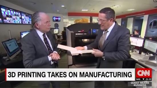 Stratasys vd pratar med Richard Quest, CNN
