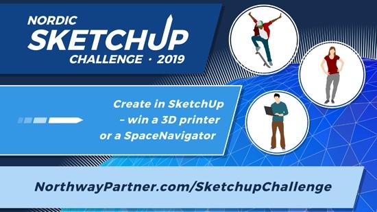 Tävla i Nordic SketchUp Challenge 2019