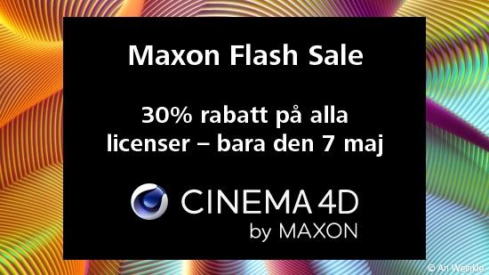 Maxon Flash Sale – 30% bara i dag!