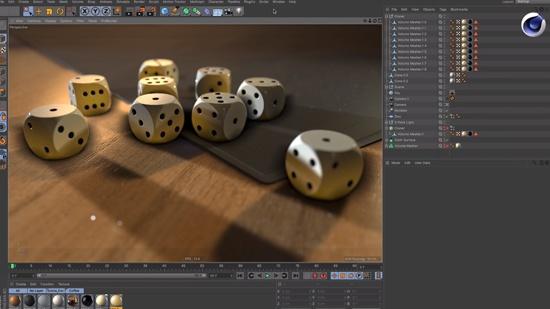 Cinema 4D – gör 3D-tärningar med Volumes