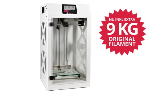 Köp Builder 3D-skrivare – inkl 9 kg filament!