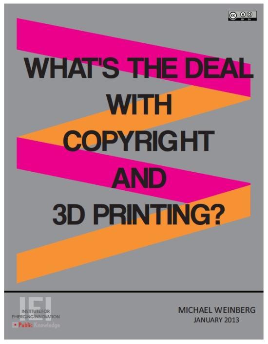 Om upphovsrätt och 3D-printing