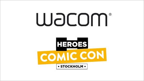 Testa Wacom-grejer på Comic Con Stockholm