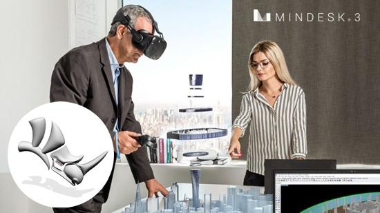 Mindesk 3 – ny VR för Rhinoceros 6
