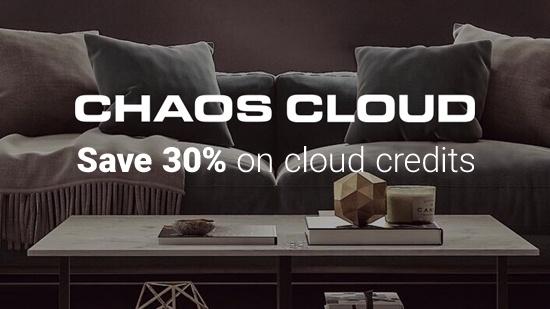 Spara 30% på Chaos Cloud-credits!