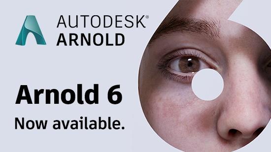 Autodesk Arnold 6 ute nu!