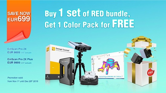 EinScan RED Bundle – nu inkl Color Pack