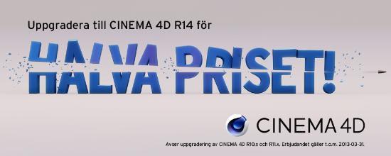CINEMA 4D – Sista veckan – 50% på uppgradering!