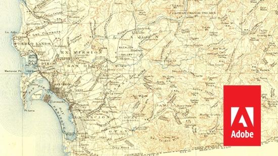 Fria vintage-kartor från Adobe/USGS
