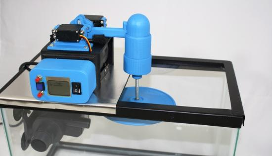 Maskin som polerar 3D-utskrifter automatiskt