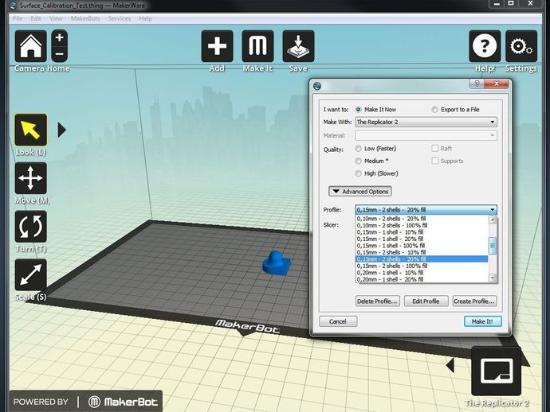 Ladda hem mängder av inställningar för 3D-printing med PLA på Replicator 2
