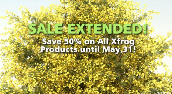 Nu blommar det – halva priset på allt Xfrog!