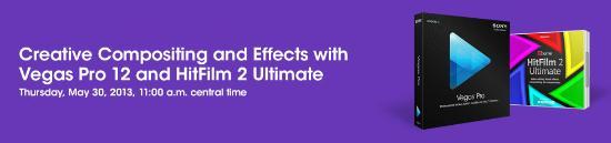 Webinar för Sony Vegas Pro 12 och HitFilm 2