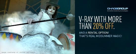 Kom med i nästa V-Ray demo reel!