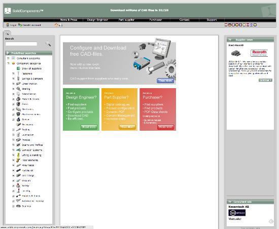 Ladda hem mängder av gratis CAD-filer på konstruktionsdelar och komponenter