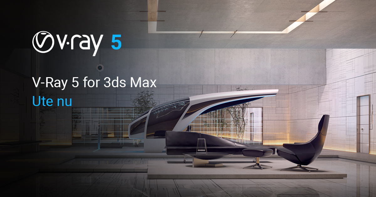 V-Ray 5 for 3ds Max ute nu!