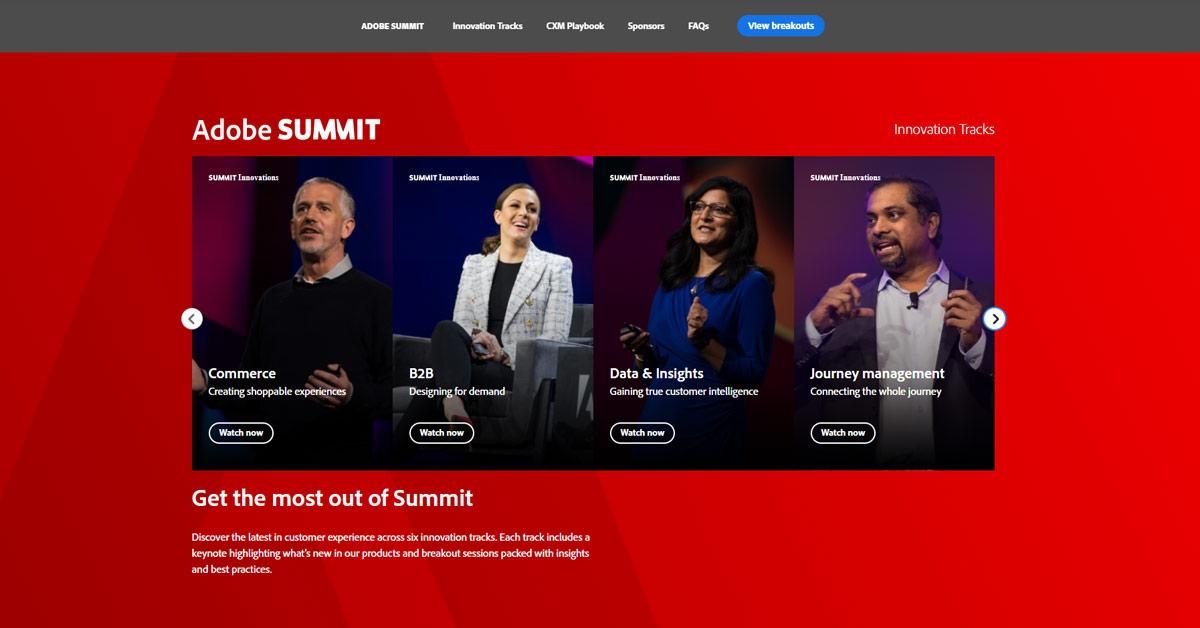 Intressanta Adobe-föreläsningar om Media & Entertainment