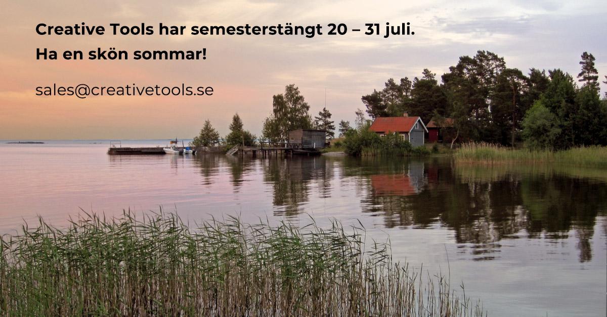 Semesterstängt den 20 – 31 juli