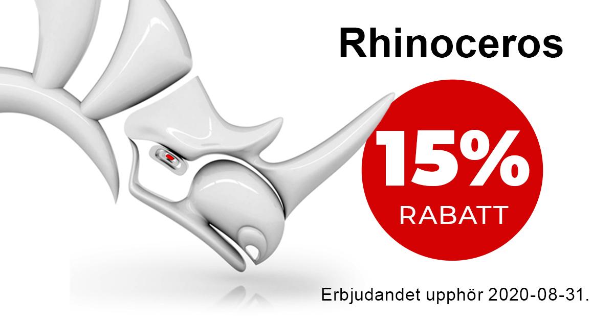 Köp Rhinoceros 6 nu – 15% rabatt