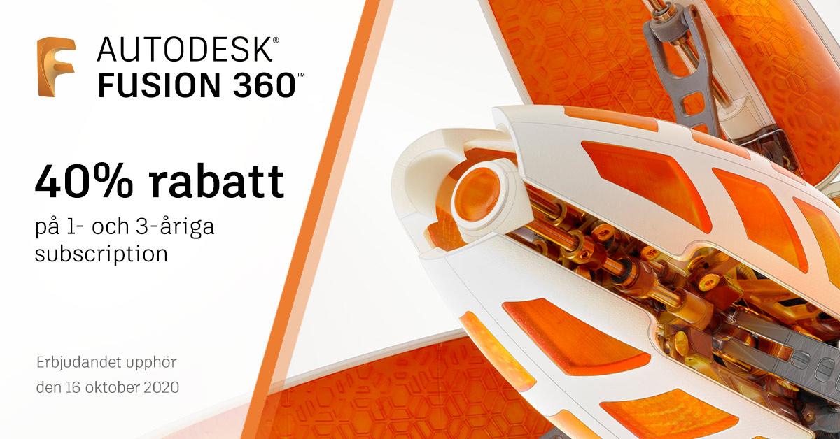 Kampanj: 40% på Autodesk Fusion 360