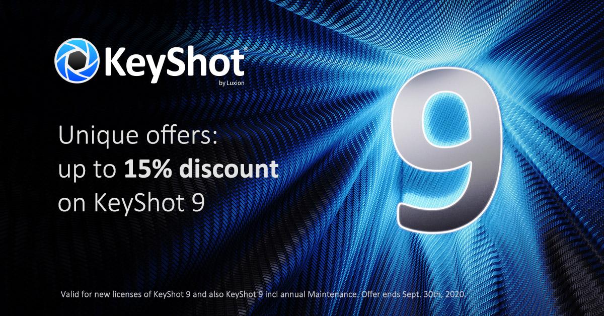 KeyShot 9 September Promo
