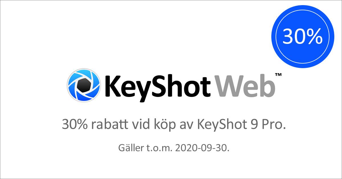 Kampanj på KeyShotWeb september ut