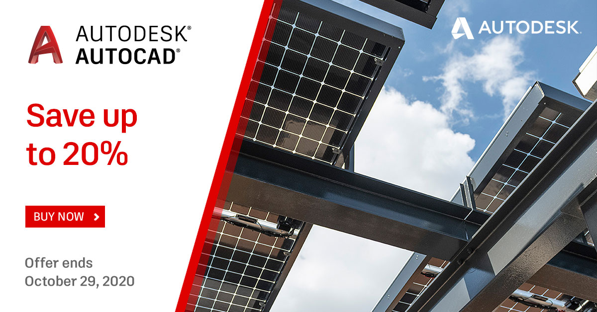 Get up to 20% off AutoCAD