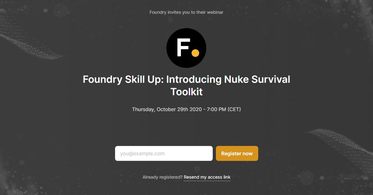 Foundry-webinar: Nuke Survival Toolkit