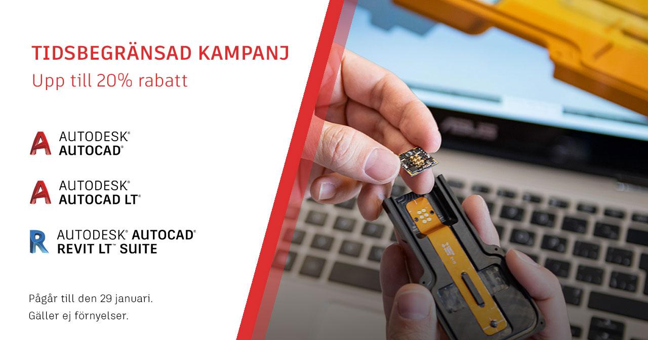Upp till 20% rabatt på AutoCAD, AutoCAD LT & Revit LT Suite