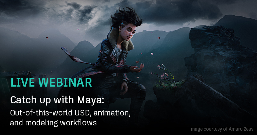 Maya-webinar: Out-of-this-world USD, animation, and modeling workflows