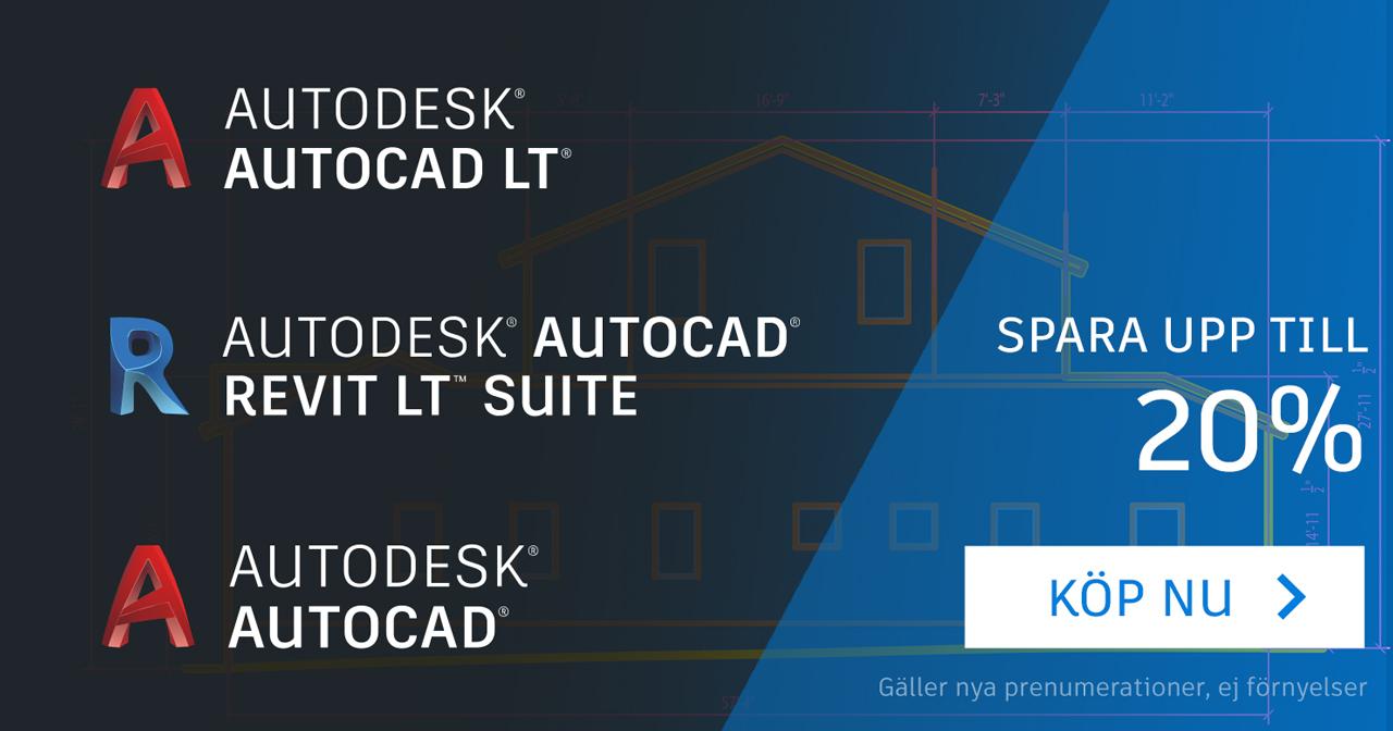 Save up to 20% on AutoCAD, AutoCAD LT and Revit LT Suite